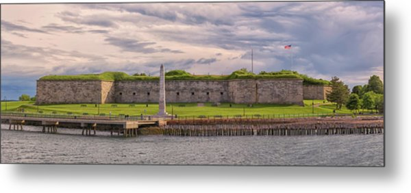 Fort Independence At Castle Island Metal Print