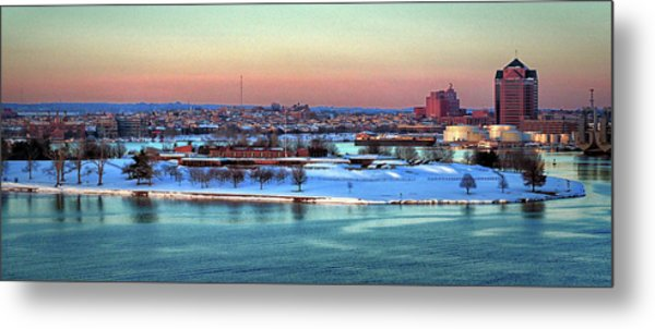 Fort Mchenry Shrouded In Snow Metal Print