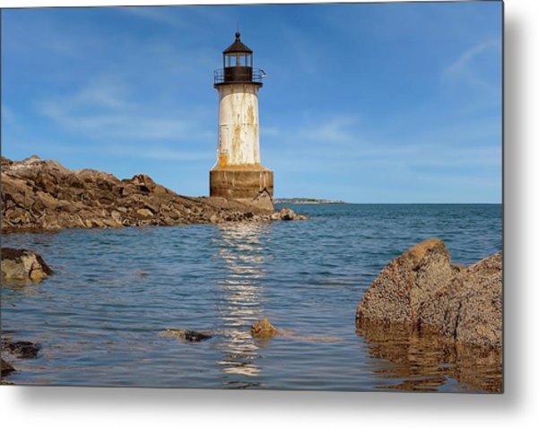 Fort Pickering Lighthouse  -  Fortpickeringlight1871salem185107 Metal Print by Frank J Benz