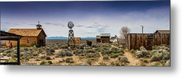 Metal Print featuring the photograph Fort Rock Museum by Jim Adams