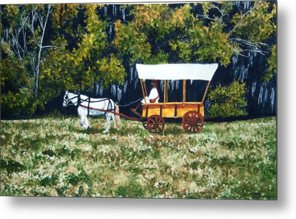 Fort Toulouse Heading Back To The Fort Metal Print by Beth Parrish