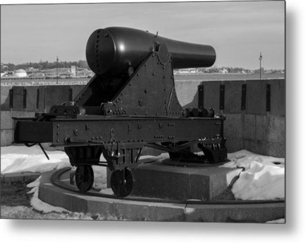 Fort Trumbull Cannon Metal Print
