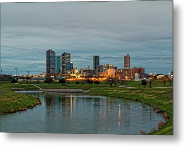Fort Worth Color Metal Print