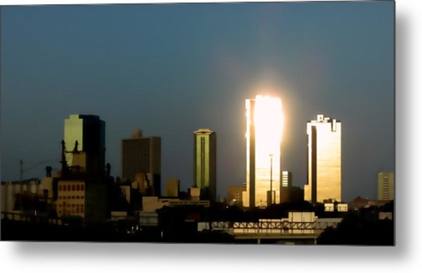Fort Worth Gold Metal Print