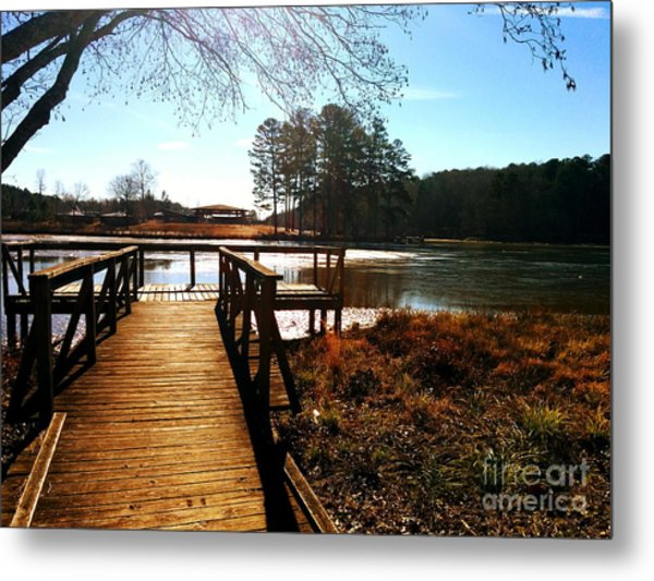 Fort Yargo Boardwalk Metal Print