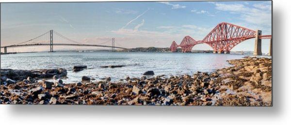 Forth Bridges Panorama Metal Print
