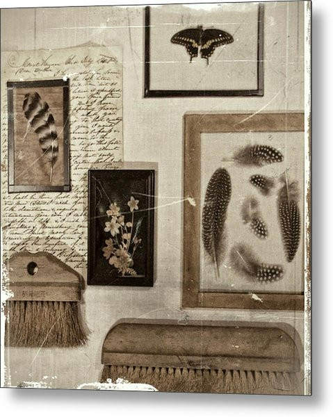 Found Object Assemblage Metal Print