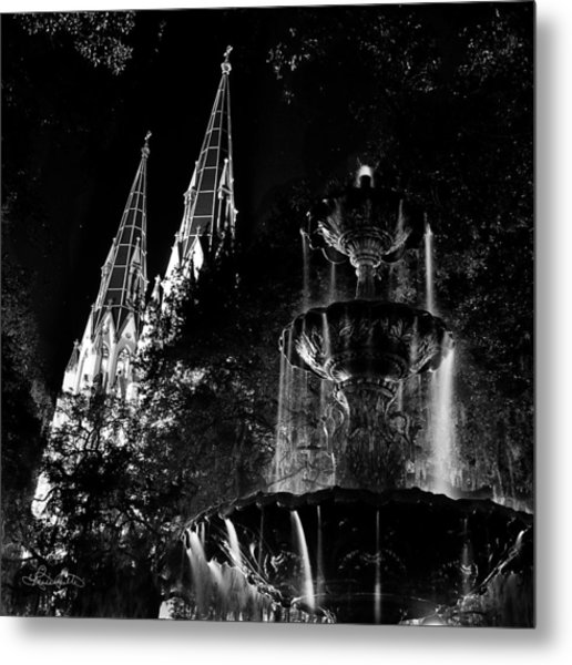Fountain And Spires Metal Print