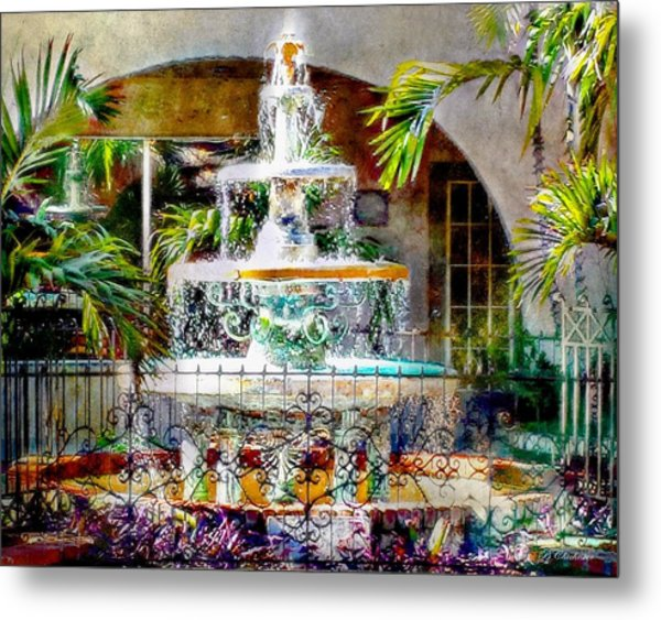 Fountain Of Water Metal Print