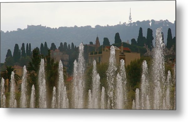 Metal Print featuring the photograph Fountains At Dawn by Rasma Bertz