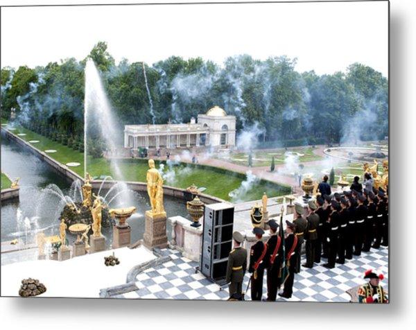 Fountains B416 Metal Print by Charles  Ridgway