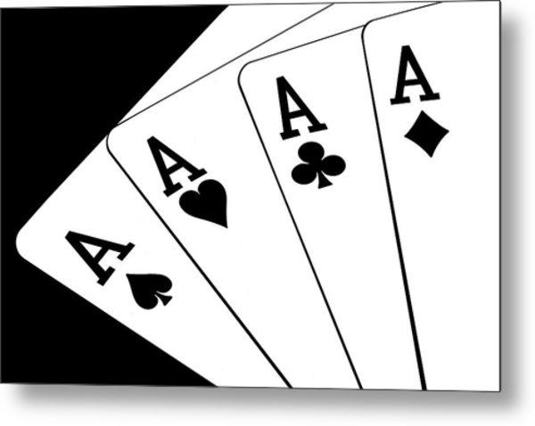 Four Aces I Metal Print