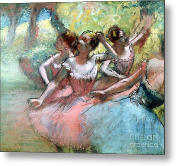 Four Ballerinas On The Stage Metal Print