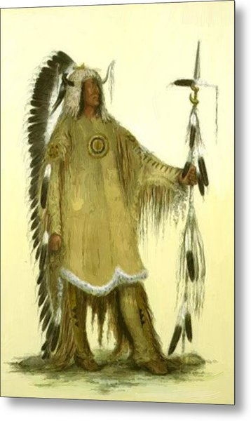Four Bears Mandan Chief 1833 Metal Print