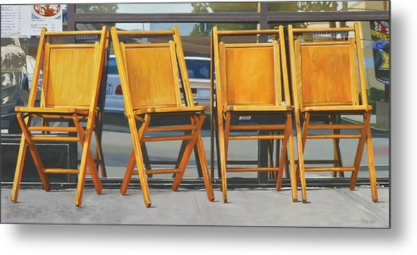 Four Chairs Metal Print