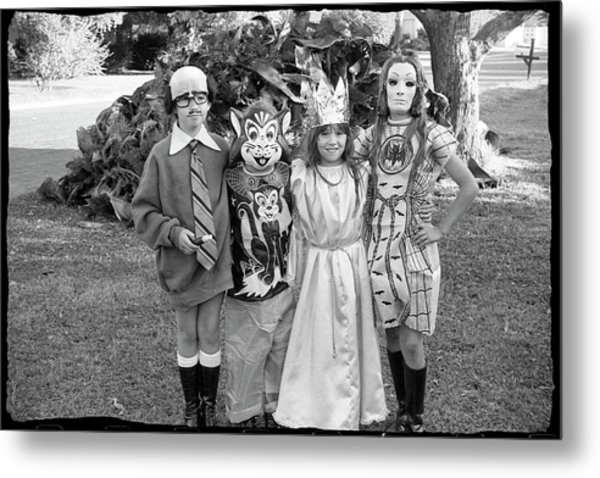 Four Girls In Halloween Costumes, 1971, Part One Metal Print