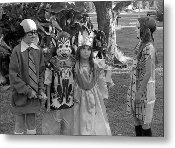 Four Girls In Halloween Costumes, 1971, Part Two Metal Print