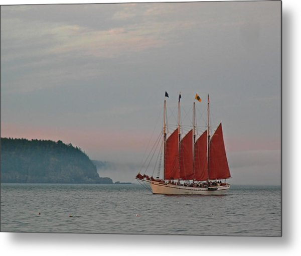 Four-masted Schooner The Margaret Todd Metal Print by Juergen Roth