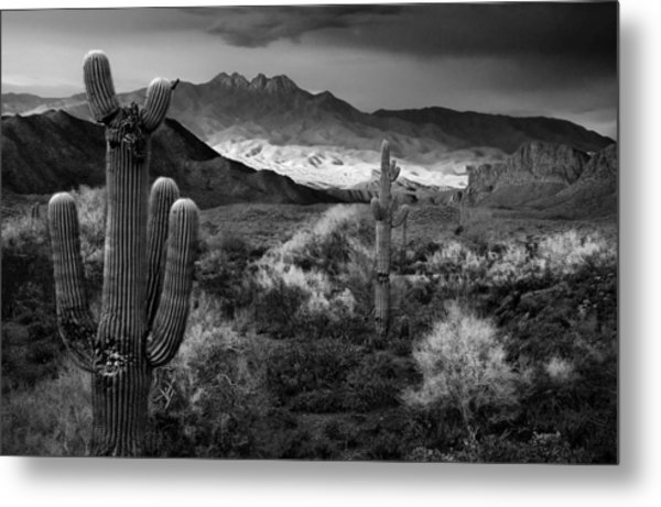 Four Peaks Az Sunset Metal Print