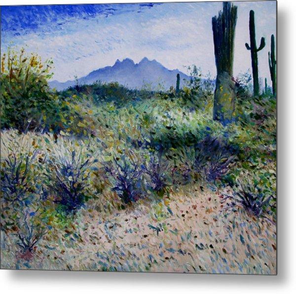 Four Peaks Phoenix Arizona Usa 2003  Metal Print by Enver Larney