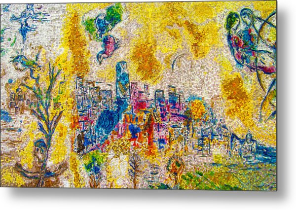 Four Seasons Chagall Metal Print