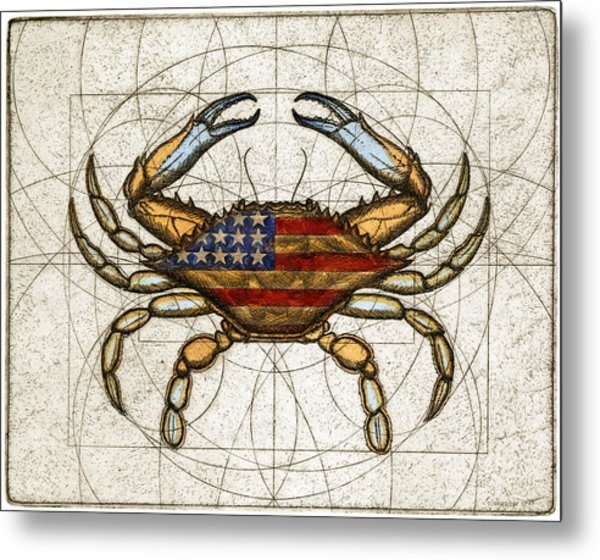 Fourth Of July Crab Metal Print