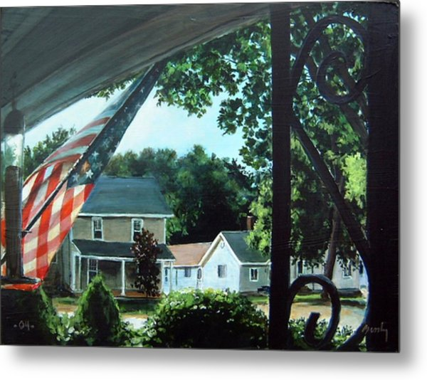 Fourth Of July Morning Metal Print by William  Brody