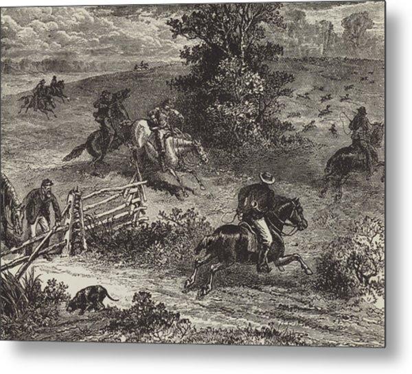 Fox Hunting In Virginia Metal Print