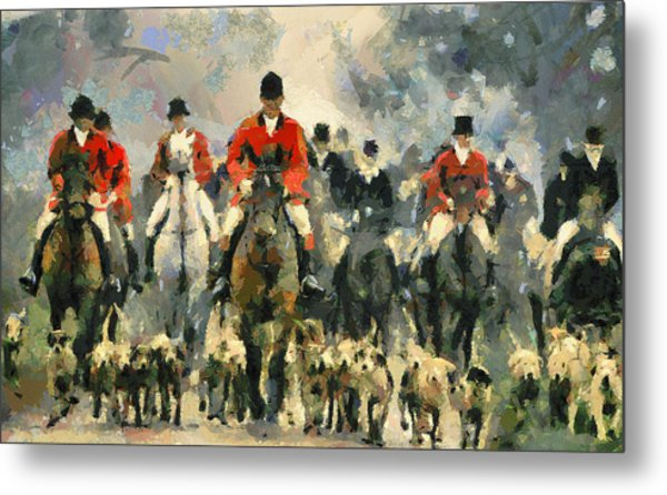 Fox Hunting Metal Print