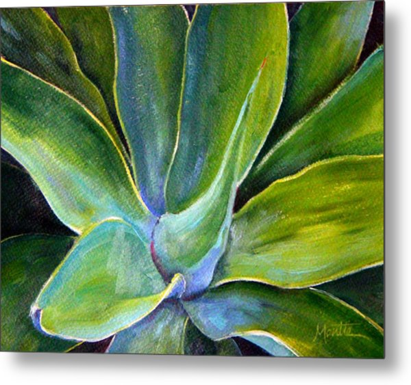 Fox Tail Agave 2 Metal Print by Athena Mantle
