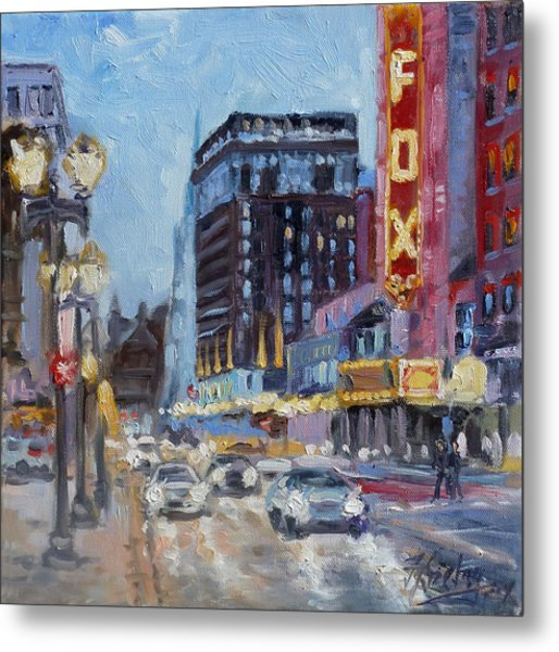 Fox Theatre On Grand Boulevard St.louis Metal Print
