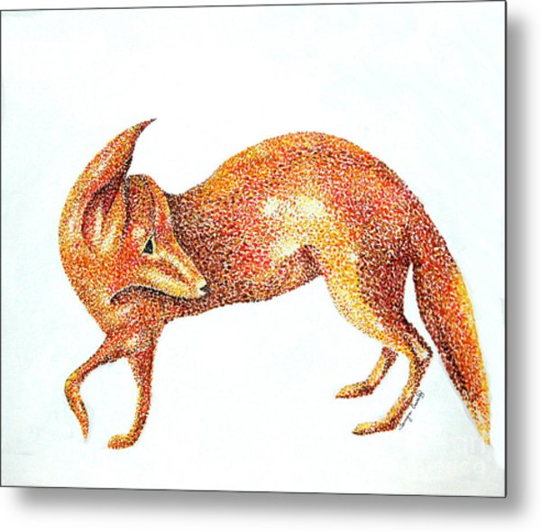 Fox Trot Metal Print