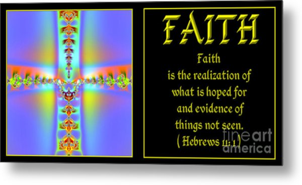 Metal Print featuring the digital art Fractal Faith Hebrews 11 by Rose Santuci-Sofranko