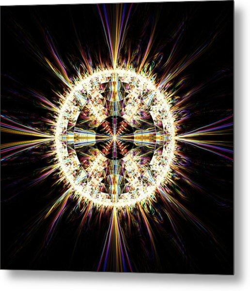 Metal Print featuring the digital art Fractal Jewel by Bee-Bee Deigner