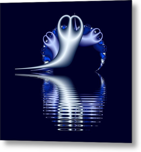Fractal Peeble Ghosts Metal Print