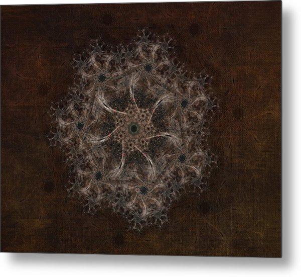 Fractal Tapestry Metal Print by AGeekonaBike Fine