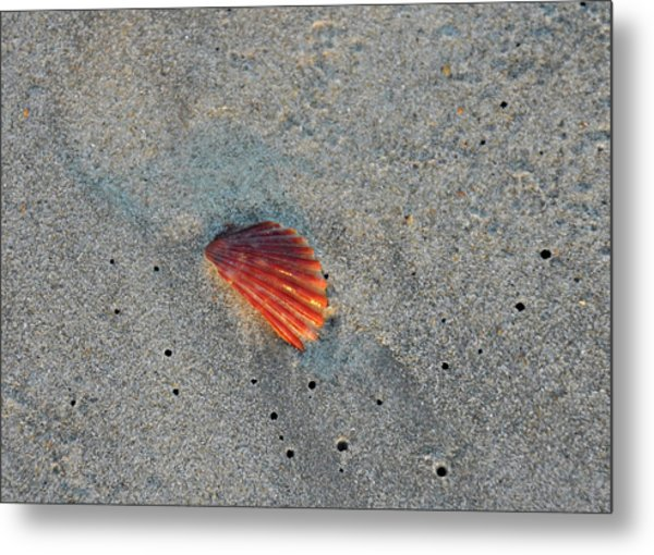 Fiery Fracture Metal Print by JAMART Photography