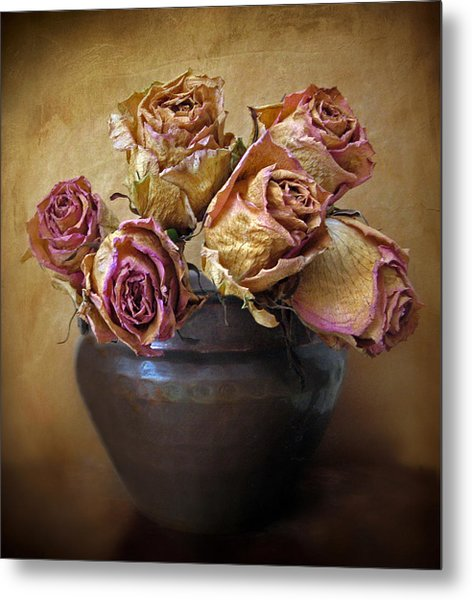 Fragile Rose Metal Print