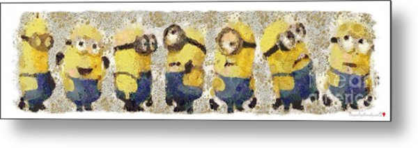 Fragmented And Still In Awe Congratulations Minions Metal Print