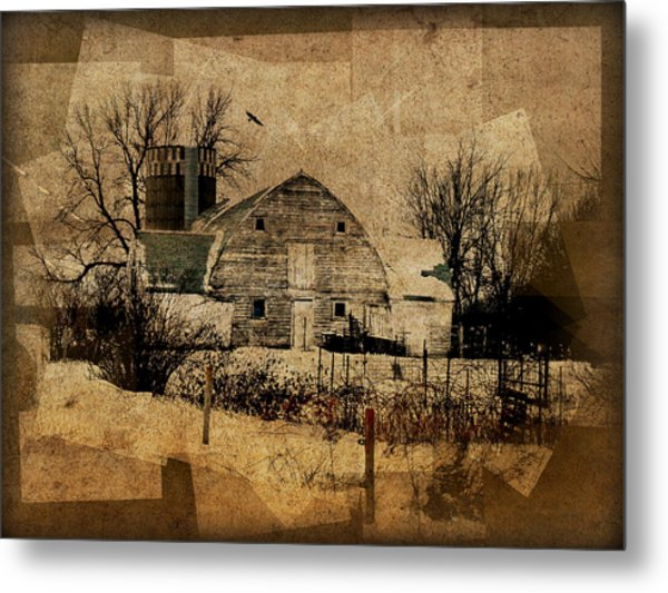 Fragmented Barn  Metal Print