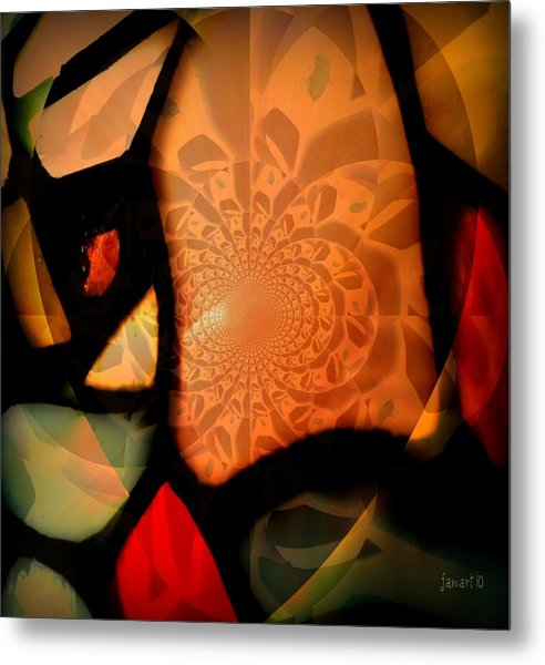 Fragments From A Glass Heart Metal Print by Fania Simon