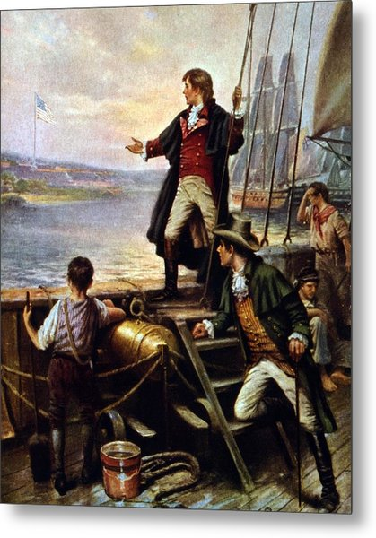 Francis Scott Key, 1779-1843 Awakes Metal Print by Everett