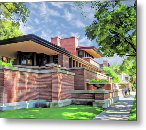 Frank Lloyd Wright Robie House Metal Print