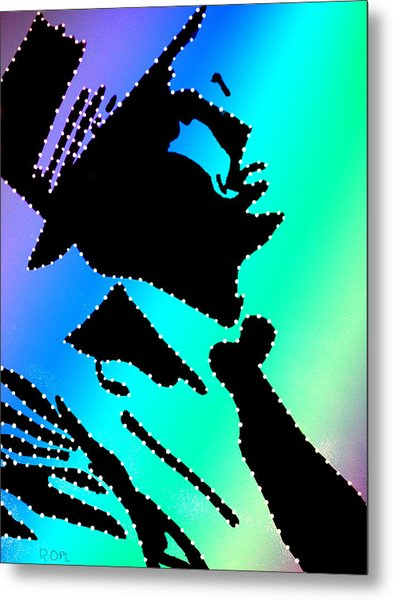 Frank Sinatra Over The Rainbow Metal Print