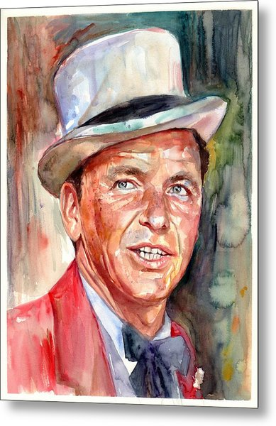 Frank Sinatra Portrait Metal Print