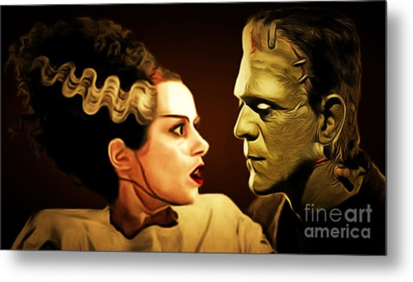 Frankenstein And The Bride I Have Love In Me The Likes Of Which You Can Scarcely Imagine 20170407 Metal Print