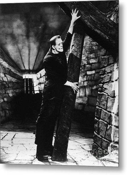 Frankenstein Boris Karloff Classic Film Image  Metal Print