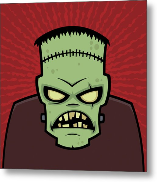 Frankenstein Monster Metal Print
