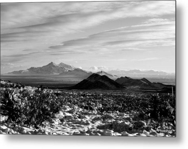 Franklin Mountains Metal Print