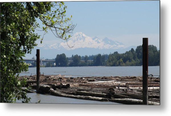 Fraser River And Mount Baker Metal Print